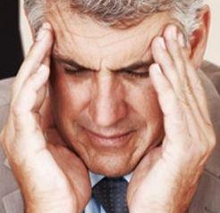 a man under stress