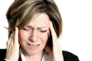 A woman with migrain headaches